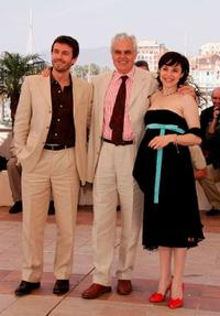 Alexandu Toma Vla, director Marco Tullio Giordana and Michela Cescon at the 58th International Cannes Film Festival.