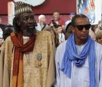 Sotigui Kouyate and Abderrahmane Sissako at the screening of