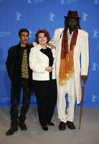 Rachid Bouchareb, Brenda Blethyn and Sotigui Kouyate at the photocall of