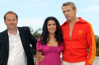 Xavier Beauvois, Sabrina Ouazani and Lambert Wilson at the 63rd Cannes Film Festival.