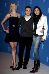 Siobhan Hewlett, Kevin Bishop and Dorka Gryllus at the 57th Berlin International Film Festival.