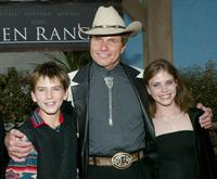Martin Kove with his children at the world premiere of