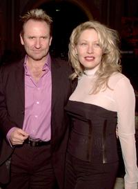 Colin Hay and Linda Kozlowski at the premiere of