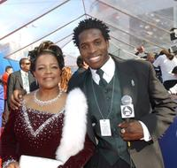 Shirley Ceasar and Godfrey at the 44th Annual Grammy Awards.