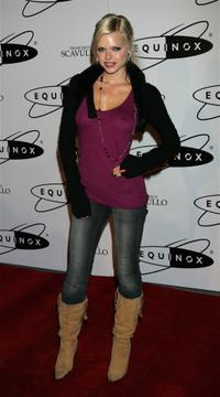 Sophie Monk at the grand opening of Equinox Fitness Club.