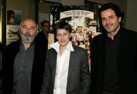Gerard Jugnot, Jean-Baptiste Maunier and writer/director Christophe Barratier at the premiere of