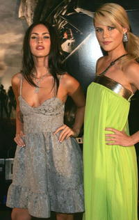 Actress Megan Fox of the US and Australian actress Rachael Taylor at a special