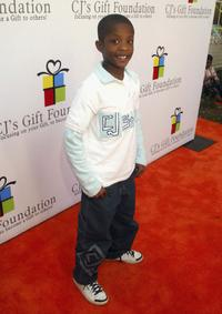 C.J. Sanders at the CJ's Gift Foundation Launch.