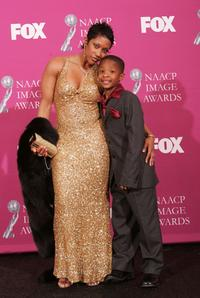 Stac Sanders and C.J. Sanders at the 36th NAACP Image Awards.