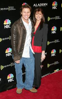 Brian Krause and guest arrive at the 2005 Radio Music Awards.
