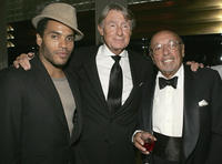 Lenny Kravitz, director Joel Schumacher and Ahmet Ertegun at the 80th birthday party for legendary musician Bobby Shortin New York.