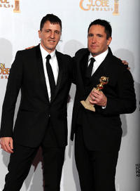 Atticus Ross and Trent Reznor at the 68th Annual Golden Globe Awards.