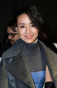 Dong Jie at the Ports 1961 fashion show during the Milan Fashion Week Womenswear Fall/Winter 2013/14 in Italy.