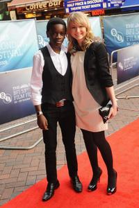 Kwayedza Kureya and Eliza Bennett at the UK premiere of