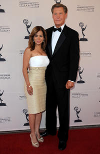 Sibilia Vargas and Kent Shocknek at the 63rd Los Angeles Area Emmy Awards in California.