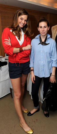 Nicole Steinwedell and Zosia Mamet at the 2011 DPA Golden Globes Gift Suite in California.