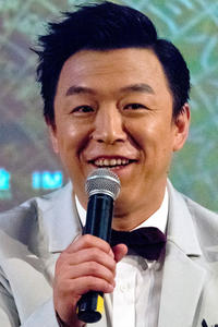 Huang Bo at a photocall and press conference for