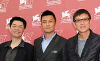 Huang Bo, Shawn Yue and director Andrew Lau at the premiere of