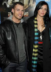 Shawn Roberts and Michelle Morgan at the premiere of