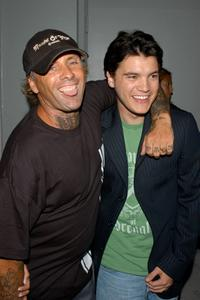 Jay Adams and Emile Hirsch at the premiere of