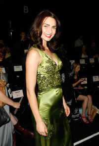 Inna Korobkina at the Lana Fuchs Spring 2009 fashion show during the Mercedes-Benz Fashion Week in California.