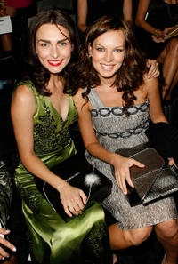 Inna Korobkina and Natasha Alam at the Lana Fuchs Spring 2009 fashion show during the Mercedes-Benz Fashion Week in California.