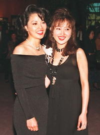 Tamlyn Tomita and Youki Kudoh at the premiere of