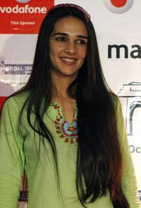 Tara Sharma at the press conference of Vodafone Delhi Half Marathon.