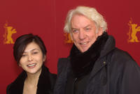 Rosamund Kwan and Donald Sutherland at the Berlinale Film Festival in Germany.