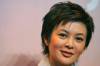 Rosamund Kwan at the news conference to promote