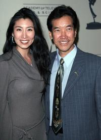 Peter Kwong and his wife at the Academy of Television Arts and Sciences presentation.