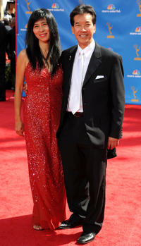 Peter Kwong and Guest at the 62nd Annual Primetime Emmy Awards in California.