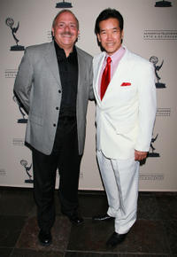 John Moschitta Jr. and Peter Kwong at the Academy of Television Arts & Sciences' Performers Peer Group Nominee Reception in California.