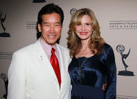 Peter Kwong and Kyra Sedgwick at the Academy of Television Arts & Sciences' Performers Peer Group Nominee Reception in California.