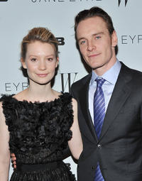 Mia Wasikowska and Michael Fassbender at the New York premiere of