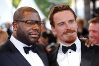 Director Steve McQueen and Michael Fassbender at the screening of