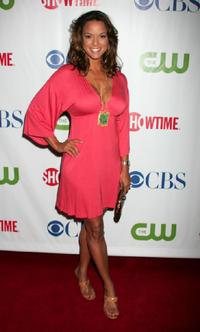Eva La Rue at the CW/CBS/Showtime/CBS Television TCA party.
