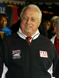 Tommy Lasorda at the premiere of