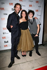Steven McCarthy, Tatiana Maslany and Spencer Van Wyck at the premiere of
