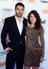 Tom Cullen and Tatiana Maslany at the Board Gala: The Night That Never Ends during the 2012 Toronto International Film Festival.