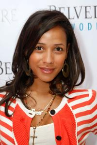 Dania Ramirez at the Belvedere Luxury Lounge in honor of the 80th Academy Awards featuring Laundry by Design.