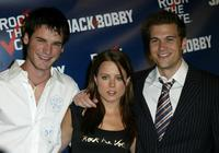 David de Latour, Allison Munn and Nick Zano at the Rock The Vote event.