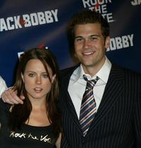 Allison Munn and Nick Zano at the Rock The Vote event.