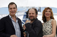 Samuel Labarthe, Denis Podalyde and Florence Pernel at the photocall of