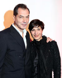 Samuel Labarthe and Helene Medigue at the event of the French Weekly Magazine Madame Figaro's 30th Anniversary in Paris.