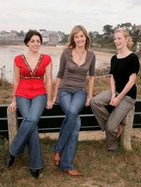 Nora-Jane Noone, Shauna MacDonald and Saskia Mulder at the photocall of
