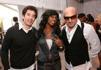 Andrew Roach, Shanie Evans and Kenny Aronoff at the Spring 2009 Mercedes-Benz Fashion Week.