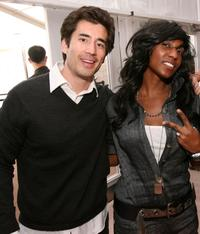 Andrew Roach and Shanie Evans at the Spring 2009 Mercedes-Benz Fashion Week.