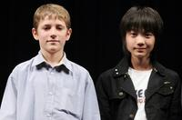 Barney Clark and Ryunosuke Kamiki at the promotion of
