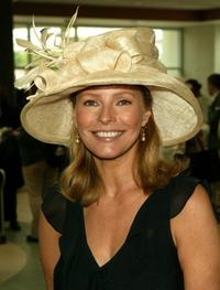 Cheryl Ladd at the 131st Kentucky Derby at Churchill Downs racetrack.